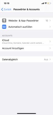 Passwörter und Accounts