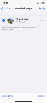 WhatsApp Status löschen