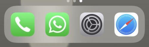 Die iPhone Einstellungen finden Sie hinter dem Zahnradsymbol.