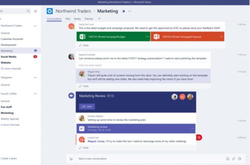 Screenshot eines Chats in Microsoft Teams