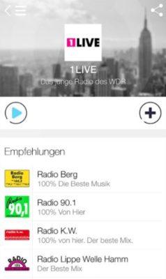Screenshot der RadioDeck- Dein Radio App