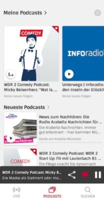 Screenshot der radioplayer.de fm Radio App