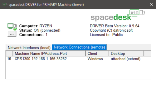 Spacedesk Server