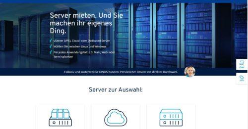 Server mit Java, Python oder PHP bei 1und1 IONOS mieten
