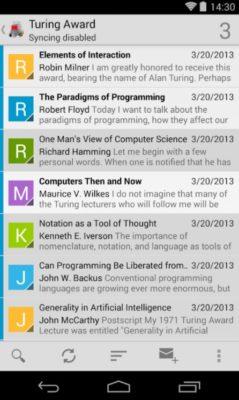 Screenshot  von K-9-Mail für Android