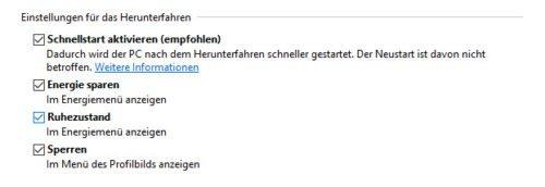 Windows 10 Ruhezustand aktiviert