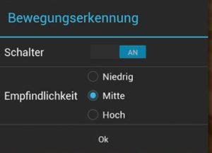 Screenshot der Alfred Überwachungskamera App