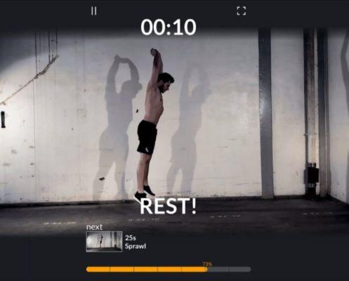 Screenshot der Fitness-App Athlagon