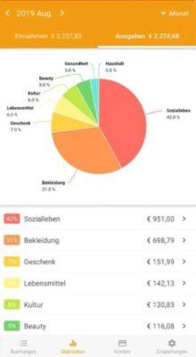 Daten aktualisieren in der Money Manager Android App
