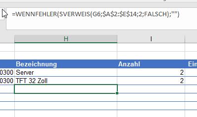 #nv in Excel durch eine Formel unterbinden