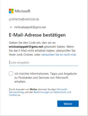 E-Mail-Konto bestätigen