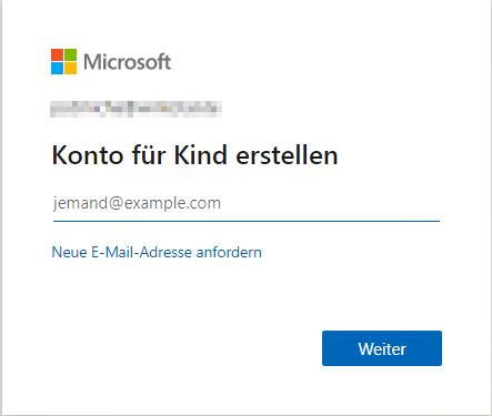 Microsoft-Konto für Ihr Kind erstellen