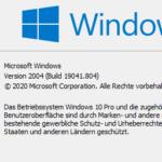 Windows 10 Build anzeigen Icon
