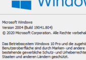 Windows 10 Build anzeigen Icon