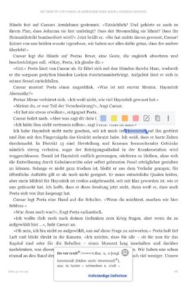 Screenshot der Amazon Kindle Ebook Reader App