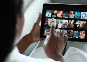 Streaming auf einem 10-Zoll-Tablet