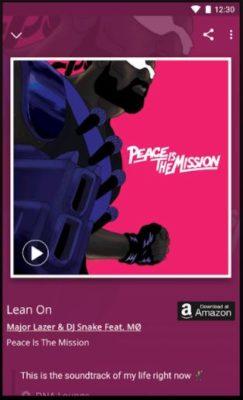 Screenshot der MusicID Musikerkennungs-App