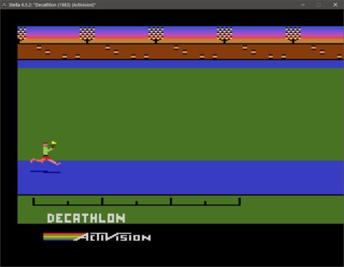 Decathlon auf dem Atari 2600 Emulator Stella