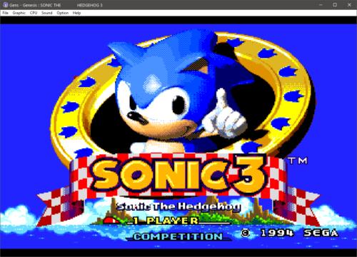 Gens emuliert Sega Konsolen