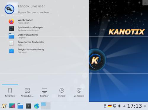 Kanotix ist auch Linux deutsch