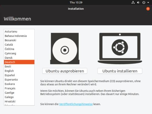 Ubuntu als Live System