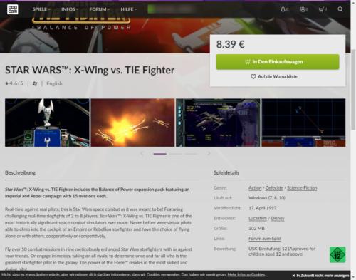 gog xwing vs tie-fighter