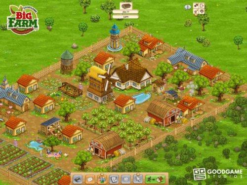 Screenshot aus Big Farm Multiplayer Browsergame ohne Anmeldung