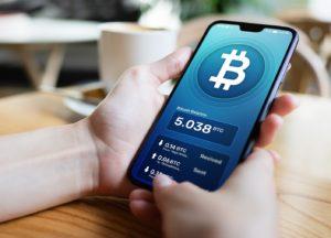 Wie funktioniert es? Bitcoin-Wallet auf einem Smartphone