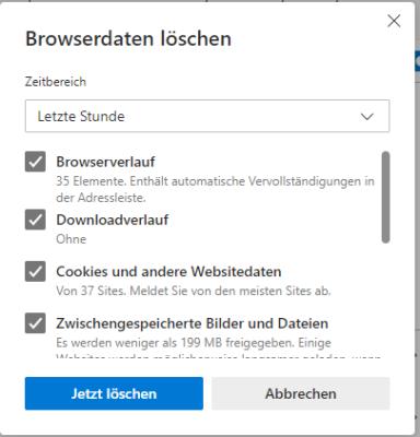 browserdaten in Edge Chromium löschen
