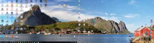 Panorama: 2 Bildschirme 1 Hintergrundbild