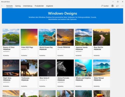 Weitere Designs finden Sie im Microsoft Store