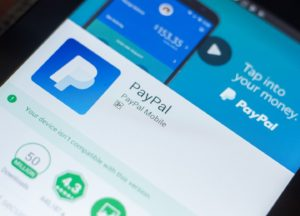 PayPal App auf einem Smartphone