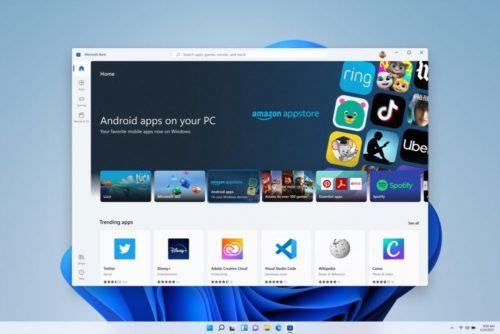 Android Apps aus dem Amazon Appstore in Windows 11.