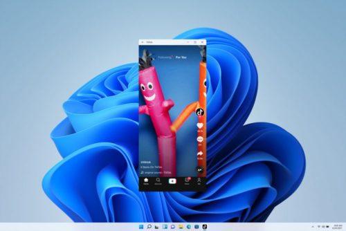 Android Apps auf dem Desktop von Windows 11.