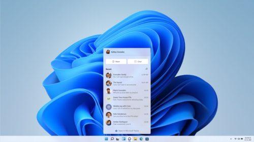 Teams wird direkt in Windows 11 integriert.