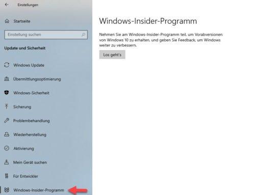 In Windows 10 können Sie dem Windows 11-Insider-Programm beitreten