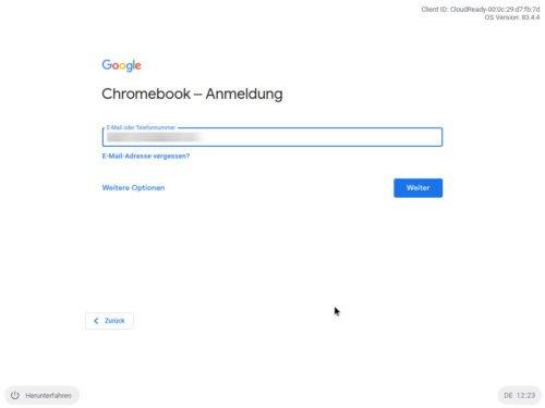 Chromebook Anmeldung