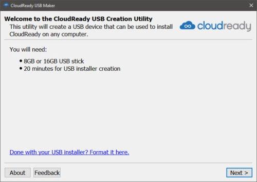 Mit CloudReady können sie Chrome OS installieren - fast.