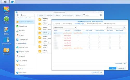 In der Verwaltung vom NAS können Sie Ordner für bestimmte Benutzerkonten freigeben und so NAS-Laufwerke auch in Windows 10 einbinden lassen.