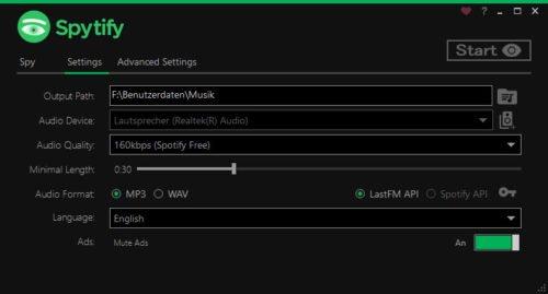 Spytify kann auch aus Spotify Lieder herunterladen.