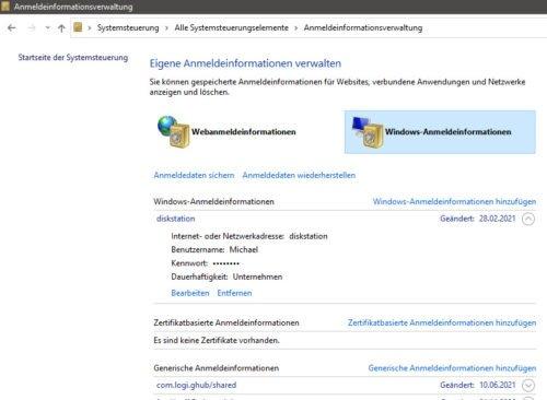 Mit den Anmeldeinformationen können Sie So können Sie Ihr NAS-Laufwerk in Windows 10 einbinden