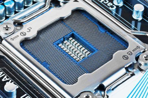 CPU Sockel auf dem Mainboard
