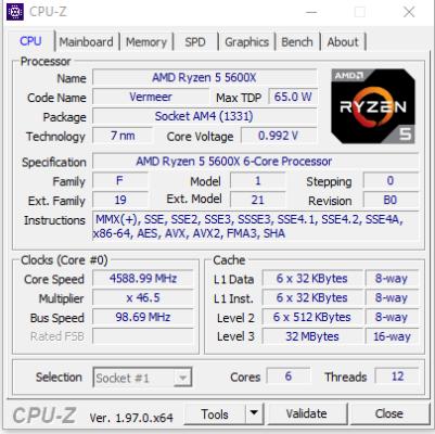 Daten zur CPU erhalten Sie mit Tools wie CPU-Z