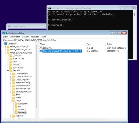 Installation von Windows 11 auch ohne TPM oder passende CPU