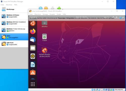 Unbuntu unter Windows in der VirtualBox Windows vs Linux es geht auch gemeinsam