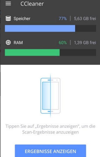 CCleaner Android Scan