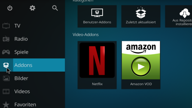 Netflix und Amazon in Kodi