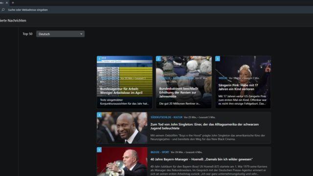 Opera personalisierte Nachrichten
