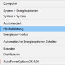 AutoPowerOptionsOK Trayfunktionen