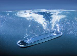 smartphones wasser